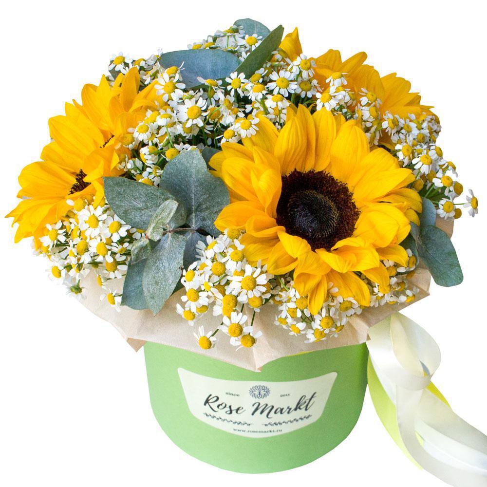 Цветы с доставкой и открытка, для